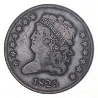 1825 CLASSIC HEAD HALF CENT   CHARLES COIN COLLECTION  362