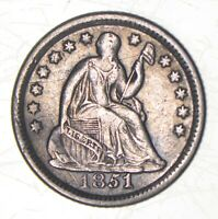 1851 O SEATED LIBERTY HALF DIME   CHARLES COIN COLLECTION  5