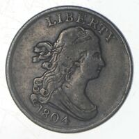 1804 DRAPED BUST HALF CENT   JEFFERSON COIN COLLECTION  719