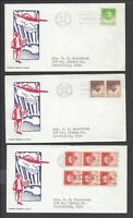 LOT OF  3  CANAL ZONE FIRST DAY COVERS FDC   CZ136 CZ137 CZ1