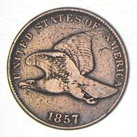 1857 FLYING EAGLE CENT   WALKER COIN COLLECTION  962