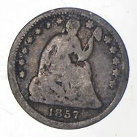 5C   1/2 DIME HALF   1857 SEATED LIBERTY HALF DIME EARLY AME