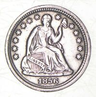 1856 SEATED LIBERTY HALF DIME   CHARLES COIN COLLECTION  547