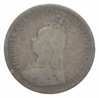 SILVER ROUGHLY SIZE OF DIME 1890 GREAT BRITAIN 3 PENCE WORLD