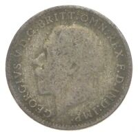 SILVER ROUGHLY SIZE OF DIME 1921 GREAT BRITAIN 3 PENCE WORLD