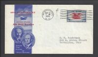 US FIRST DAY COVER FDC   C23   6C AIR MAIL EAGLE   1938