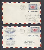 LOT OF  2  US FIRST DAY COVERS FDC   C23   6C AIR MAIL EAGLE