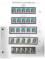 PNC COLLECTION 5   34C   37C FLAG   22 PNC STRIPS OF 5 $33