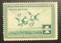 TDSTAMPS: US FEDERAL DUCK STAMPS SCOTTRW4 UNUSED NG TINY THI