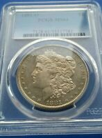 1881-O MORGAN SILVER DOLLAR PCGS MINT STATE 61 GREAT LOOKING BU COIN LITTLE PROOF LIKE