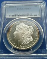 1880-S MORGAN SILVER DOLLAR  NGC MINT STATE 63 BEAUTIFUL COIN PROOF LIKE