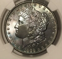 1899-O MORGAN DOLLAR NGC MINT STATE 65 SLATE GREY/BLACK/BLUE RAINBOW TONED ABSOLUTE GEM