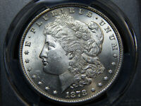 1878 $1 7TF MORGAN DOLLAR REVERSE OF 1879 MINT STATE 62 PCGS, WHITE LOOKS HIGHER