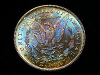 1878-S $1 MORGAN DOLLAR MINT STATE 65 PCGS, REALLY  GREAT REVERSE COLOR