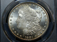 1881-CC $1 MORGAN DOLLAR MINT STATE 64 PCGS, REALLY  SEMI PROOFLIKE
