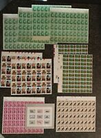 $101 US POSTAGE NICE FULL SHEETS 18 22 25 CENT STAMPS