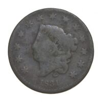 BETTER 1831 MATRON HEAD   US LARGE CENT PENNY COIN COLLECTIO