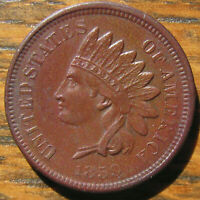 ATTRACTIVE BROWN AU 1859 INDIAN HEAD CENT