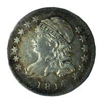 1814 10C CAPPED BUST DIME EXTRA FINE  SMALL DATE