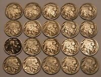 HALF ROLL OF FULL DATE BUFFALO NICKELS  20 COINS IN ALL