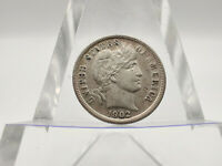 1902-S BARBER DIME EXCELLENT EYE APPEAL, GREAT COIN