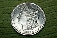 A1351,SELDOM SEEN 1883 O VAM 7A MORGAN SILVER DOLLAR,BU