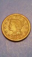US COIN 1850 BRAIDED HAIR LARGE CENT