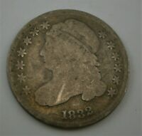 UNITED STATES 1832 CAPPED BUST SILVER 10C TEN CENT