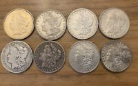 LOT OF 10 MORGAN SILVER DOLLARS COINS - SOME BETTER DATES 1887 S,1894 O,1892 S