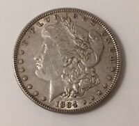 1884 MORGAN SILVER DOLLAR 90 SILVER COIN