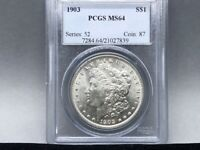 1903-P PCGS MINT STATE 64 MORGAN SILVER DOLLAR PREMIUM COIN AND STRIKE  EYE APPEAL