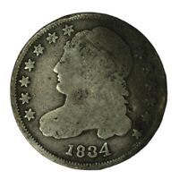 1834 10C CAPPED BUST DIME