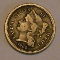 1865 THREE CENT PIECE