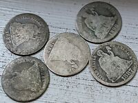 5  SEATED LIBERTY DIME LOW GRADE COINS