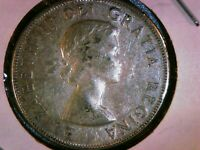 1959 CANADA 50 CENTS 80  SILVER HALF DOLLAR FROM THE