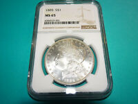1885 P MORGAN DOLLAR - NGC MINT STATE 65 HSE3