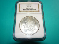1882 S MORGAN DOLLAR - NGC MINT STATE 65 SRH9