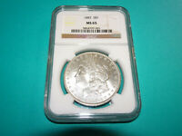 1887 P MORGAN DOLLAR - NGC MINT STATE 65 DZ93