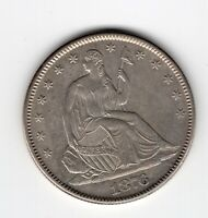 1876 LIBERTY SEATED HALF DOLLAR