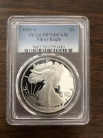 1986 S $1 PROOF SILVER EAGLE PCGS PR70DCAM   FIRST YEAR OF ISSUE