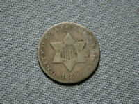 1852 THREE CENT SILVER  TRIME