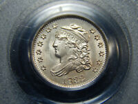 1832 H10C CAPPED BUST HALF DIME MINT STATE 64 PCGS/CAC, LOOKS HIGEHER  ORIGINAL
