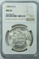 1904-O MORGAN DOLLAR S$1 NGC MINT STATE 63