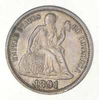 1891 SEATED LIBERTY DIME 2410