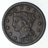 1848 BRAIDED HAIR LARGE CENT - CIRCULATED 9249