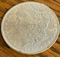 1904 NEW ORLEANS MINTED MORGAN SILVER DOLLAR 90 SILVER  --- GREAT INVESTMENT