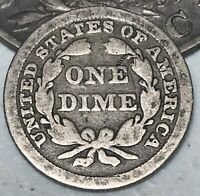 1848 SEATED LIBERTY DIME 10C LOW MINTAGE DETAILS GOOD DATE US SILVER COIN CC2983