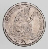 1884-S SEATED LIBERTY DIME - CIRCULATED 7752