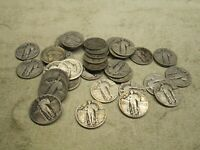 MIXED ROLL STANDING LIBERTY QUARTERS W/DATES 1925-30