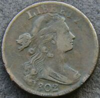1802 DRAPED BUST LARGE CENT |  - FINE-   549